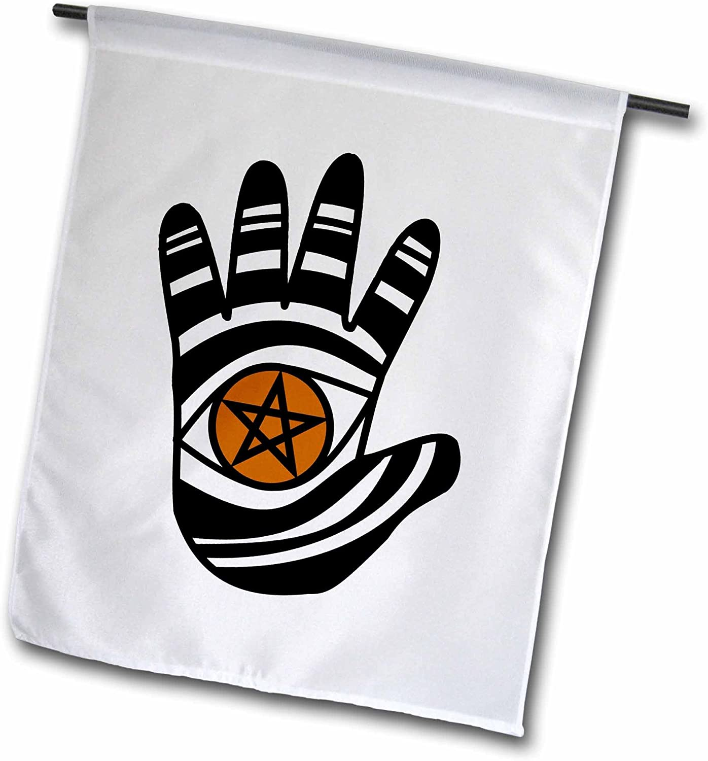 3dRose fl_23183_1 Pentacle Hand Pagan Witchcraft Tribal Wicca Symbol Garden Flag, 12 by 18-Inch