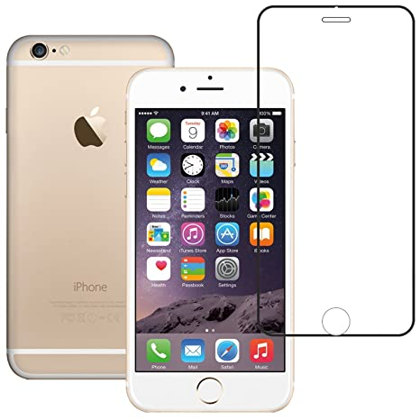 AirPlus Airguard 9H Tempered Glass for Apple iPhone 6 (Clear-Black) Screen guards at amazon