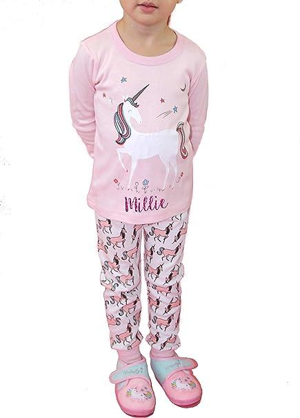 Pijama de unicornio para niñas personalizable - Pijama de ...