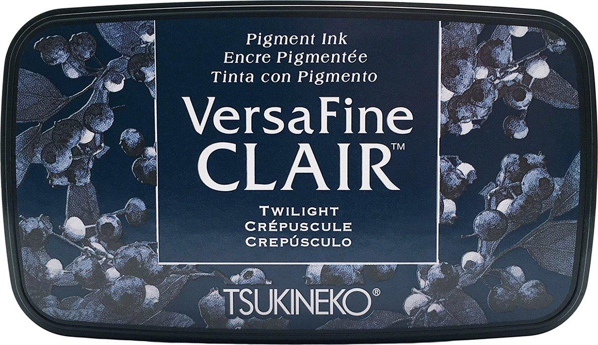 Tsukineko Versafine crepuscolare Clair tampone di inchiostro, in materiale sintetico, blu, 5.6x 9.7x 2.3cm VF-CLA-652