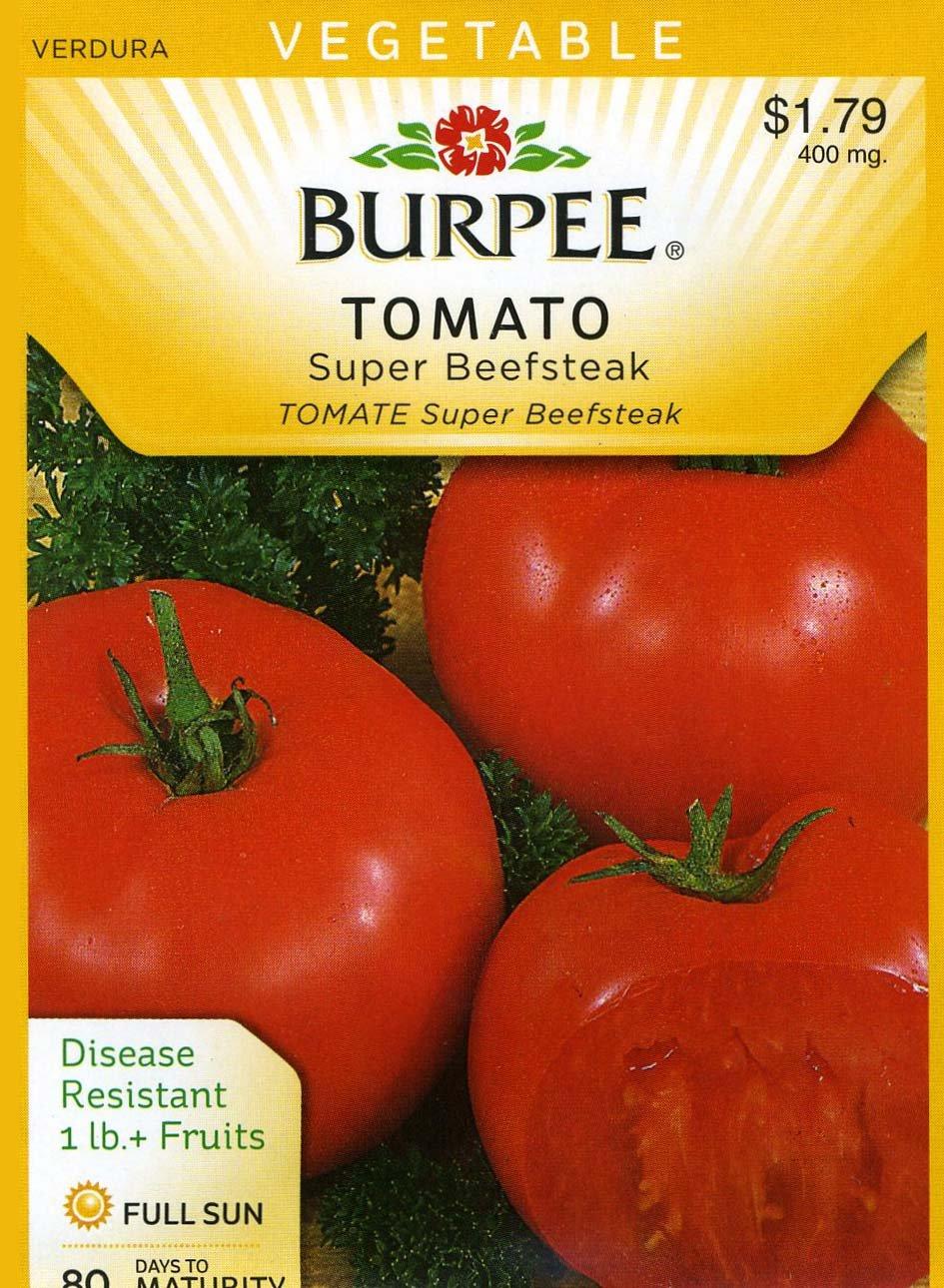 Amazon.com : Burpee 66852 Tomato Super Beefsteak Seed Packet : Vegetable  Plants : Garden U0026 Outdoor