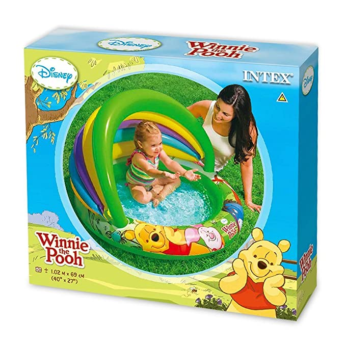 Intex 57424NP - Piscina hinchable Winnie the Pooh 102 x 69 cm, 45 ...