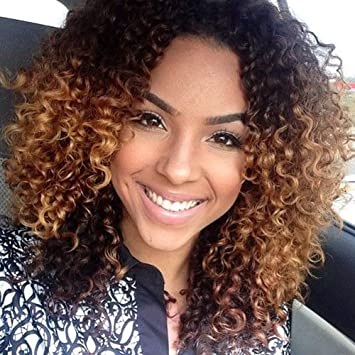 buy sale undefeated x low price sale FOND Curly Human Hair Lace Front Wigs for Black Women Kinky Curly Short  Brazilian Hair Wigs with Baby Hair Natural Black Color