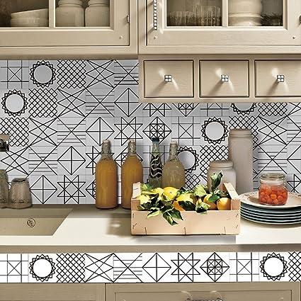 Piastrelle in pvc per cucina pannelli adesivi per pareti for Piastrelle in pvc adesive per cucina