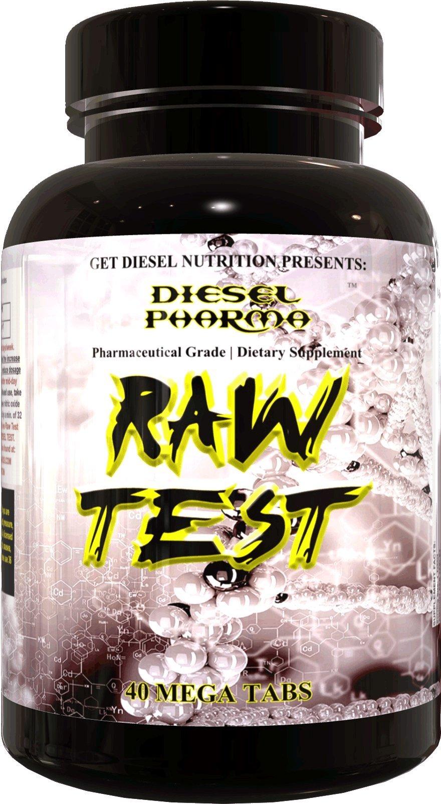 GET DIESEL Raw Test Potent affordable Test Booster, 40 Mega Tabs