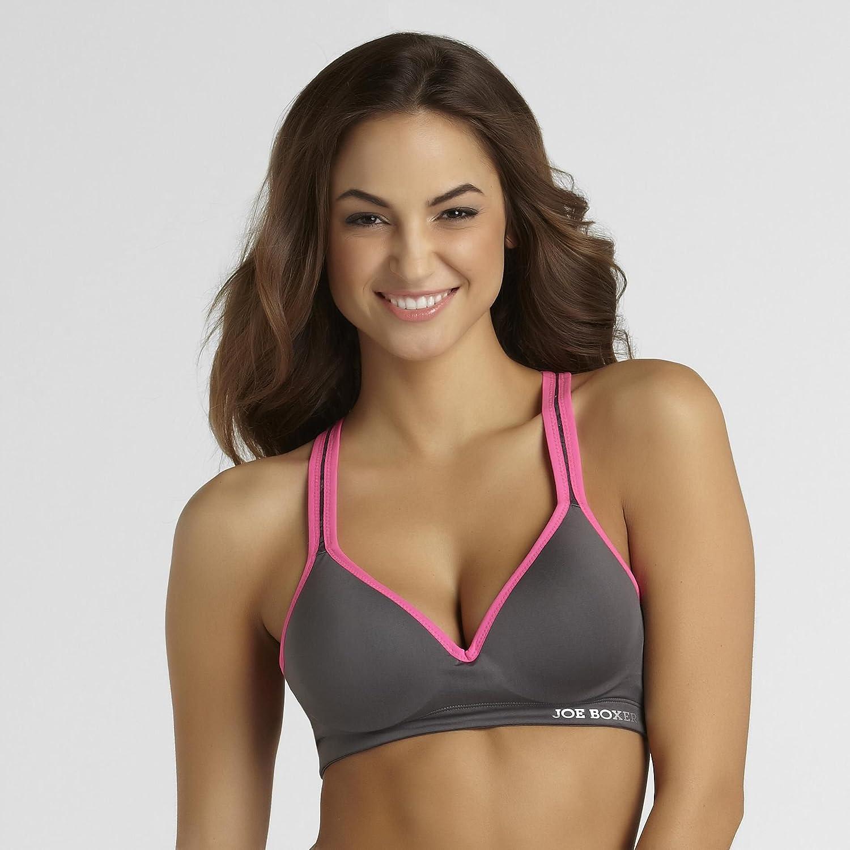 0c485fe2d3 Amazon.com  Joe Boxer Women s Racerback Sports Bra Lace Inset Small   Clothing