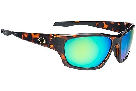 42339bdc063 Strike King Plus SG-SKP431 Cypress Polarized Sunglasses Shiny Brown  Tortiseshell Frame and Green Mirror