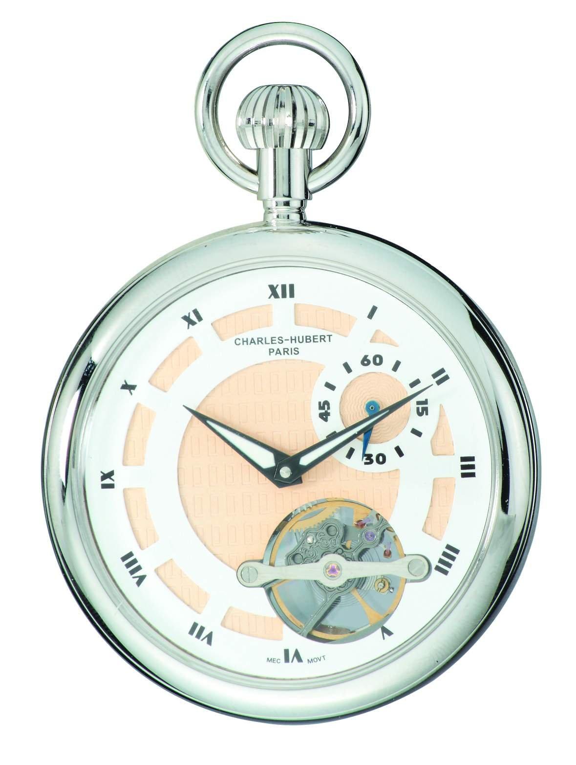 Charles-Hubert, Paris 3901-W Classic Collection Open Face Mechanical Pocket Watch