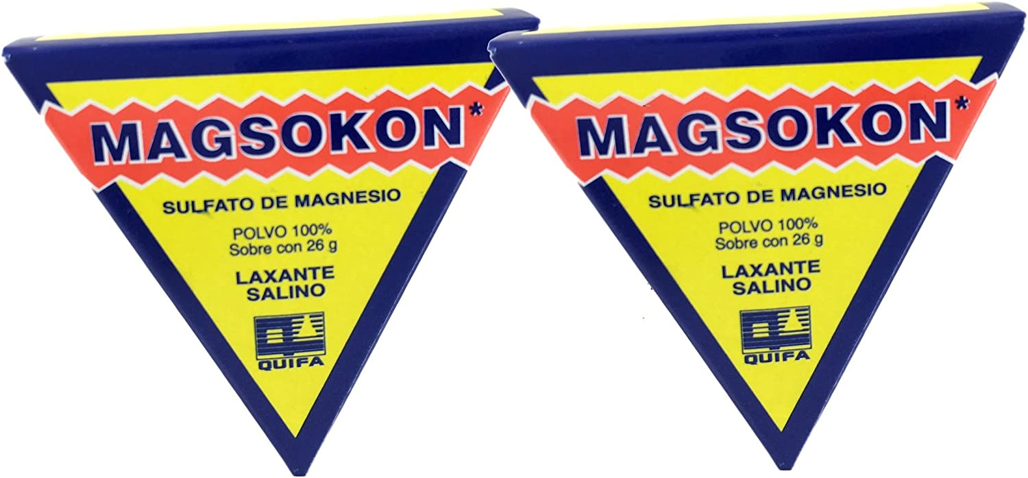 2 Two Magsokon Triangles Sal De Higera Sulfato De Magnesio Laxante Health Personal Care