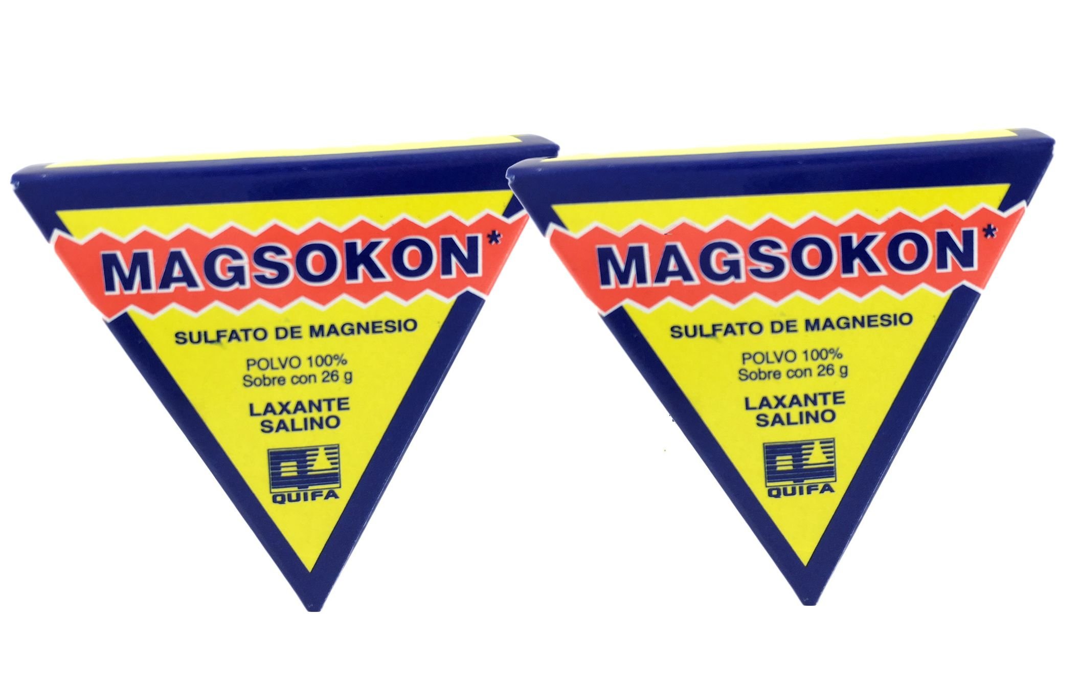 Amazon.com: (2)two Magsokon Triangles Sal De Higera Sulfato De Magnesio Laxante: Health & Personal Care