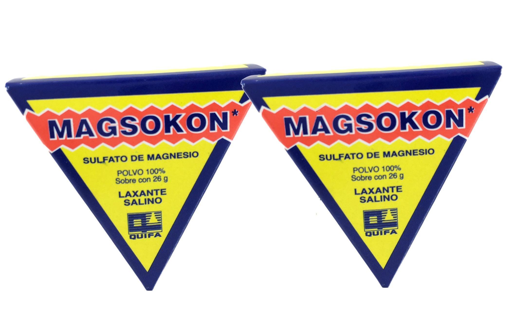 (2)two Magsokon Triangles Sal De Higera Sulfato De Magnesio Laxante