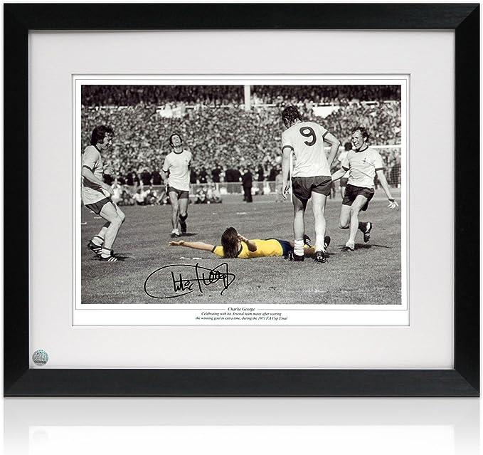 Charlie George Firmado y enmarcado Arsenal 1,971 FA Cup Final de fotos: Amazon.es: Deportes y aire libre