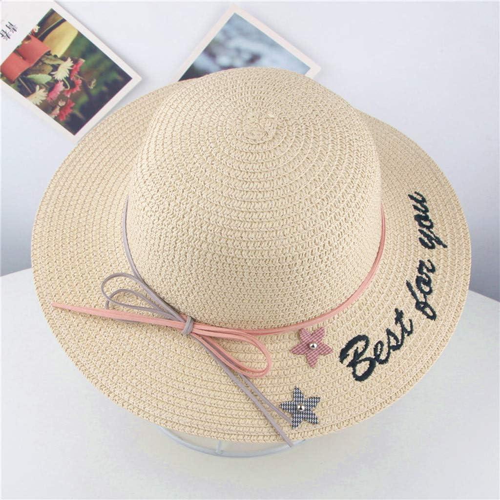 Kids Boys Girls Cowboy Summer Breathable Hat Straw Sun Hat Children TR
