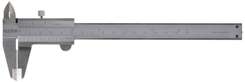 201030-2 Vogel Taschen-Messschieber Messbereich 150 mm // 6 Inch, Schnabell/änge 40 mm, Messspitzen Kreuzform, mit Feststellschraube