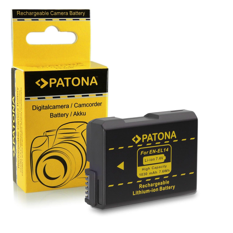 Li-ion; 1100mah; 7.4V P7100 D5300 D3200 2x Premium Batteria EN-EL14 EN-EL14a per Nikon D3100 Nikon Coolpix P7000 D5100 P7800 - P7700 D5200