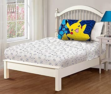 pokemon 3 piece twin sheet set - Twin Bed Sheets