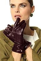 ELMA Damen Touchsrceen Texting Nappa Leder Handschuhe 100% Kaschmir-Futter