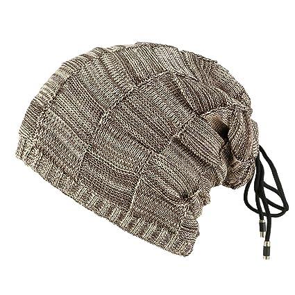 3b2861dc21e Image Unavailable. Image not available for. Color  EnjoCho ❤Multifunction Women  Men Warm Crochet Winter Villus Knit Beanie Caps Hat ...