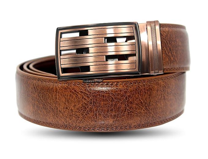 EZ CLICK BELTS Men's Leather Ratchet Belts