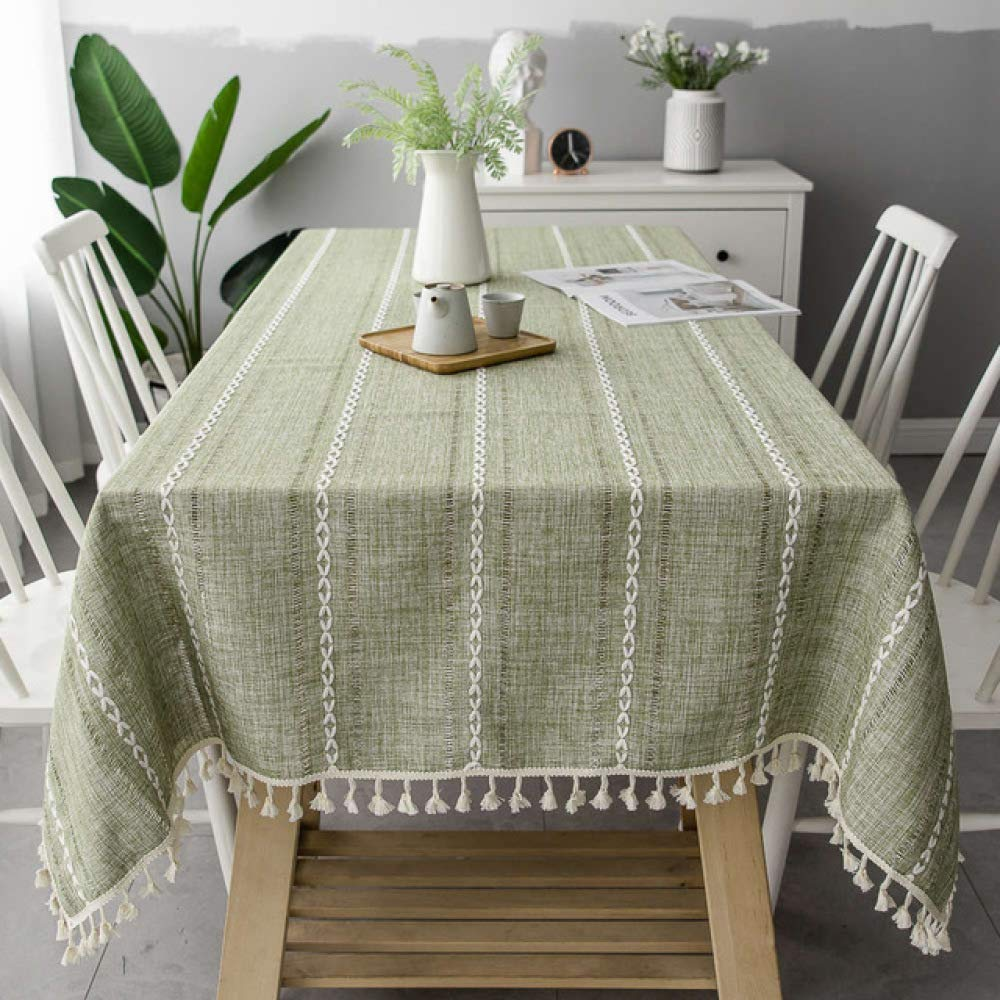 Fengdong Pink Openwork Embroidered Jacquard Tablecloth Linen Table Decoration Color 02 140140cm by FENGDONGT