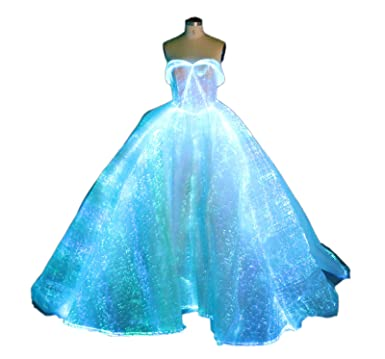 Light up Wedding Gown Glow in the Dark Maxi Dress for Banquet Show ...