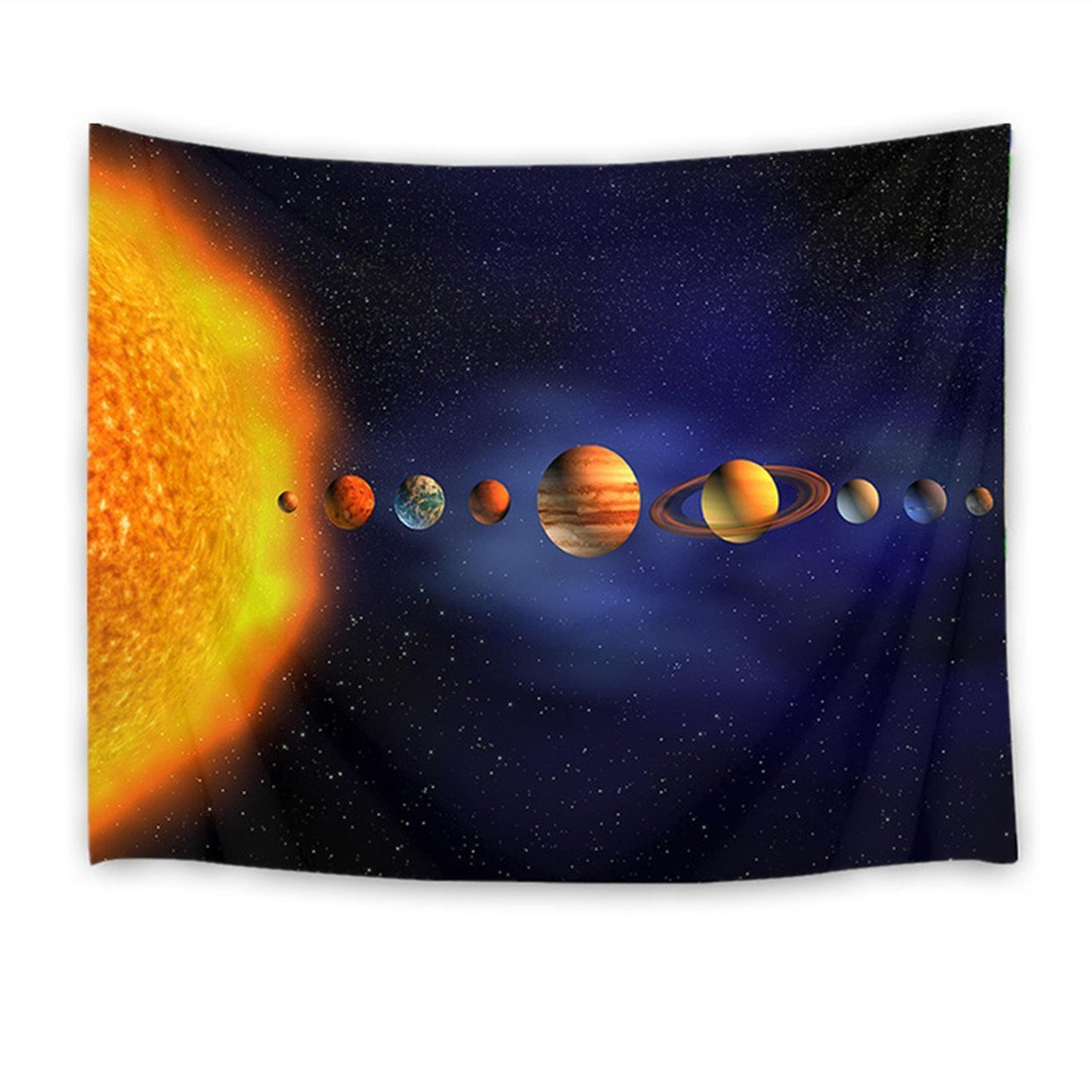 HVEST Univese Tapestry Space Tapestry Wall Hanging Starry Sky and Planets in Solar System Wall Blankets for Bedroom Living Room Dorm Wall Decor,59 W X 40 H INCH