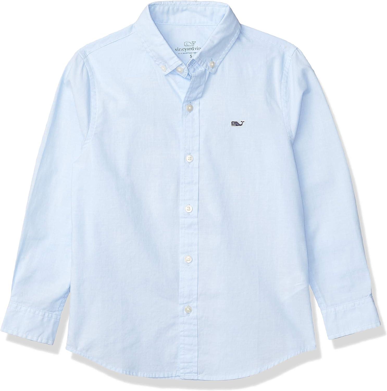 Vineyard Vines Boy's End Button Down Whale Shirt: Clothing