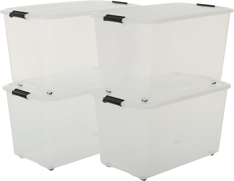 Iris – Juego de cajas, sistema de ordenación con Comercio y ruedas caja: Amazon.es: Hogar