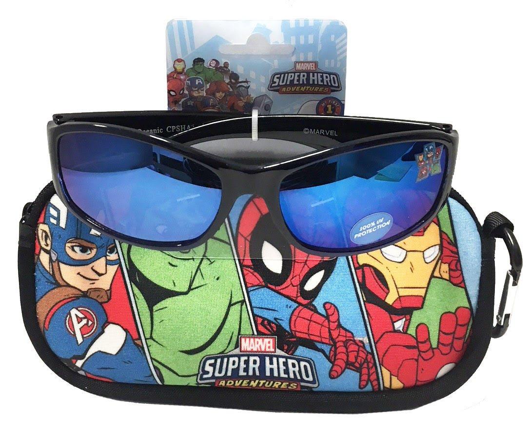 Marvel Superhero Adventures Sunglasses & Carrying Case Set - 100% UV Protection for Kids