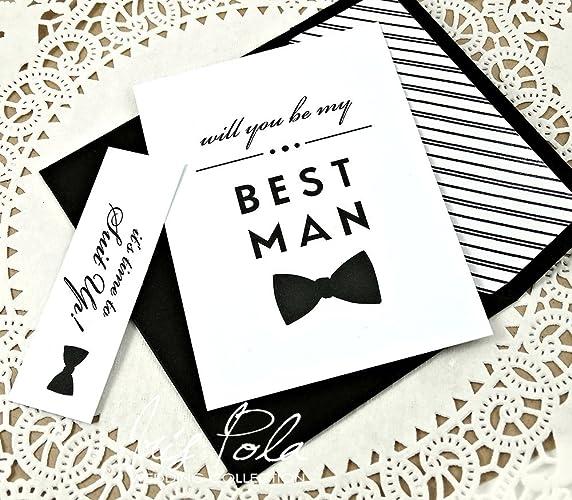 amazon com five 5 be my best man proposal groomsman usher