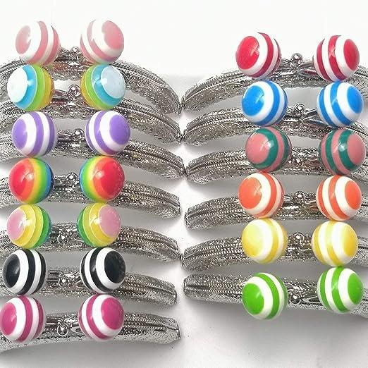 Guo Fa - Marcos de monedero de metal con cierre de arco iris y caramelos, 12 unidades, 8,5 x 6 cm, varios colores