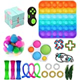HDLR Fidget Toys, Fidget Sensory Toy Set, Relieve Stress Toy Set, Premium and Durable Stress Relief Toys for Kids Adults…