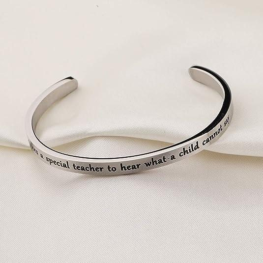 AKTAP Speech Language Pathologist Gifts Thank You for Making My Voice Heard Speech Therapist Bangle Bracelet SLP Thank You Gift