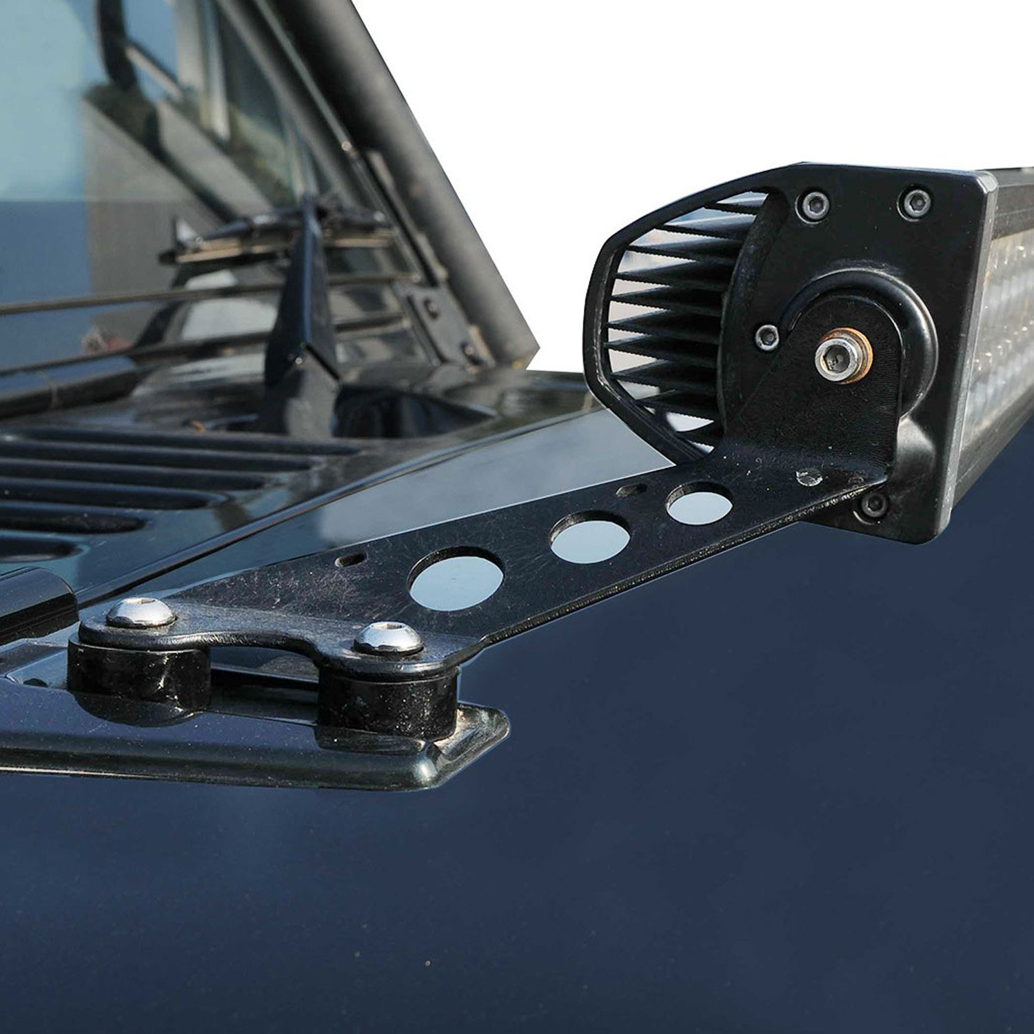 -Black 6 Inch Larson Electronics 0909P4T9QYA 2007 Peterbilt Conventional-Factory Install-Rh Side Roof Mount Spotlight 100W Halogen Driver Side with Install Kit