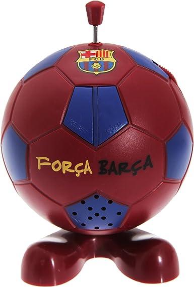 FCB FC Barcelona Radio en forma de balón de fútbol Scarlet/Blau ...