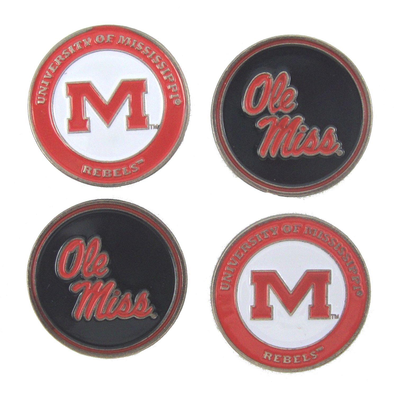Mississippi Rebelsゴルフボールマーカー( Set of 4 )   B01NAHMZYD