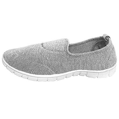 LL4311 Ladies Canvas Slip On Memory Foam Plimsoll Espadrilles Trainers Go Shoes