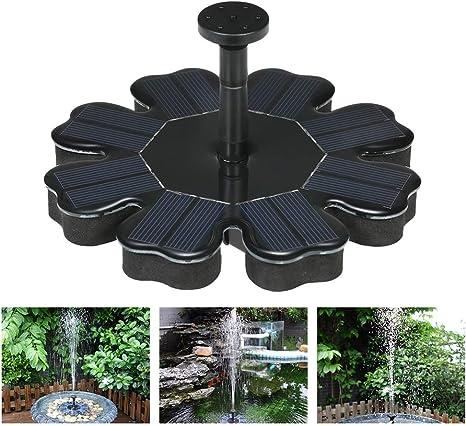 ENDJYO Fuente Solar Flotante, Bomba De Agua para Jardín 180 L/H Pájaro Baño Estanque Jardín Decoración 4 Boquillas Fuente De Agua Sin Escobillas Impermeable para Estanques Piscina Jardín: Amazon.es: Deportes y aire
