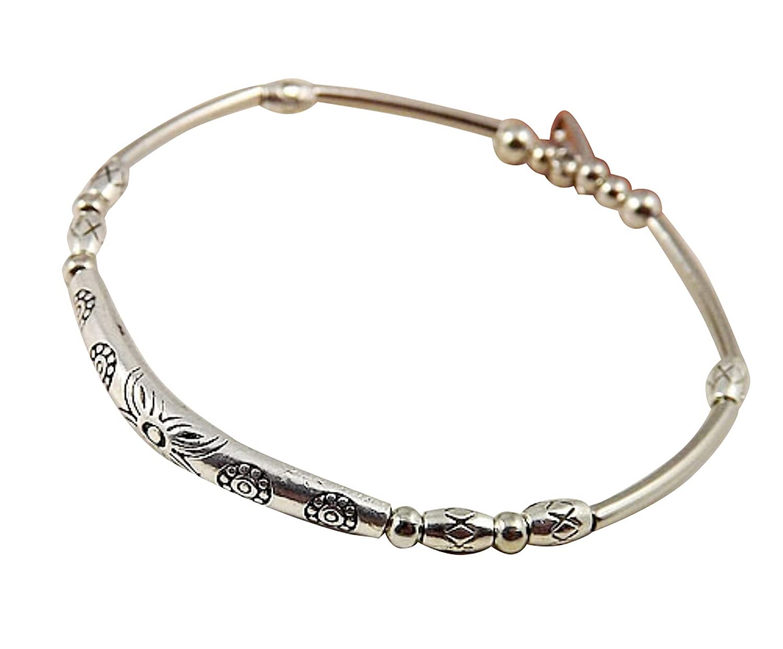 Sunnyshopday 5046 Tibetan Silver Hand Chain Link Bracelet Bangle Jewelry Plated,Silver