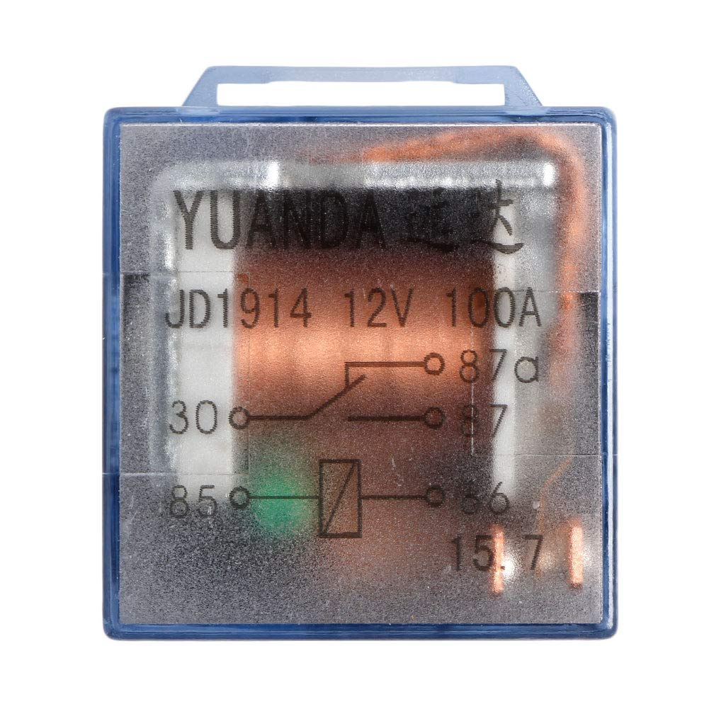 Numkuda Waterproof Automotive Relay 5 Pack 12V 100A 5Pin SPDT Car Control Device Car Relays