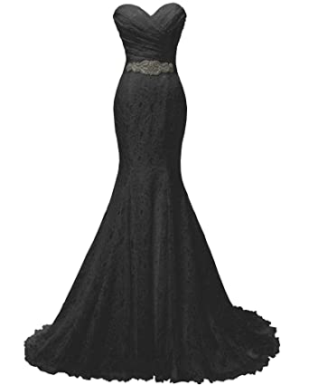 SOLOVEDRESS Women s Lace Wedding Dress Mermaid Evening Dress Bridal Gown  with Sash (US 0 8da8daf71bfe