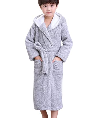 Amazon.com  Boys and Girls Super Soft Plush Fleece Robe Kids ... 9b71b8baa