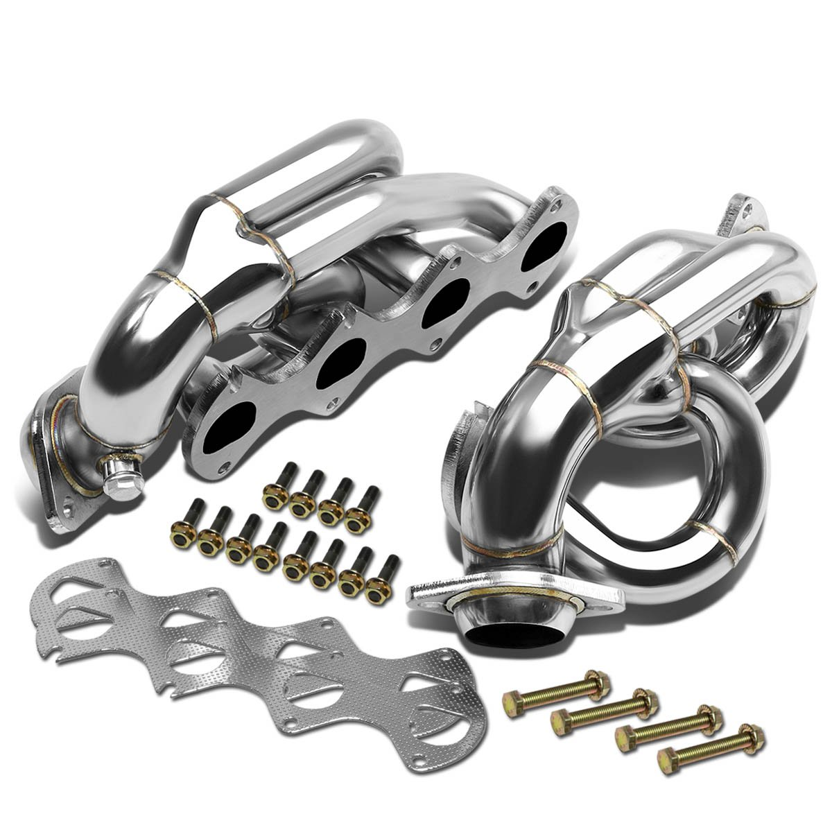 For Ford Mustang 4-1 Design 2-PC Stainless Steel Exhaust Header Kit - 4.6L V8 Auto Dynasty