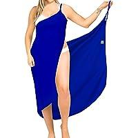 LA LEELA Rayon Women Bikini Suit Girls Cover Up Sarong Solid
