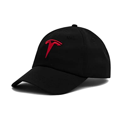 Amazon.com  Tesla Motors Logo Fitted Hat (L XL)  Clothing 97803eb8c3a