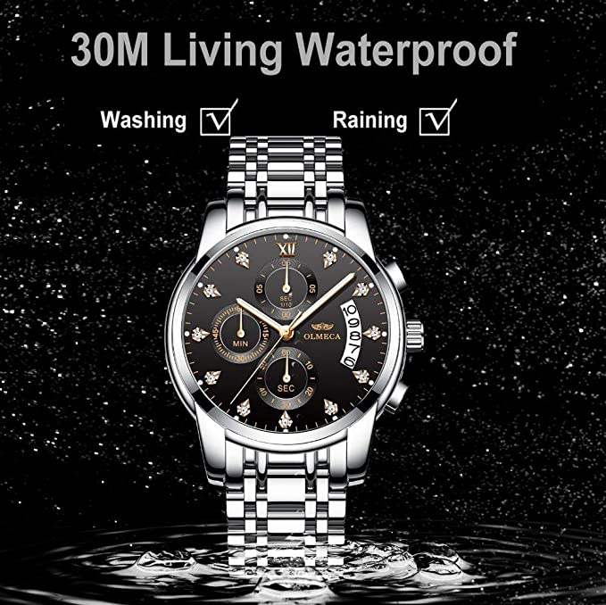 Amazon.com: OLMECA Brand Clock Military Relogio Masculino Waterproof Watches Luminous Hands Chronograph Men Wrist Watch Stainless Steel Band: Watches