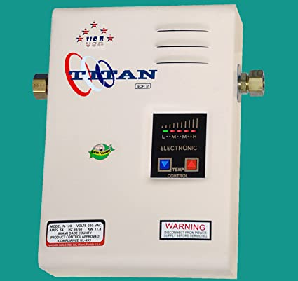 Titan Scr2 N 120 Electric Tankless Water Heater 220 Volts Amazon Com