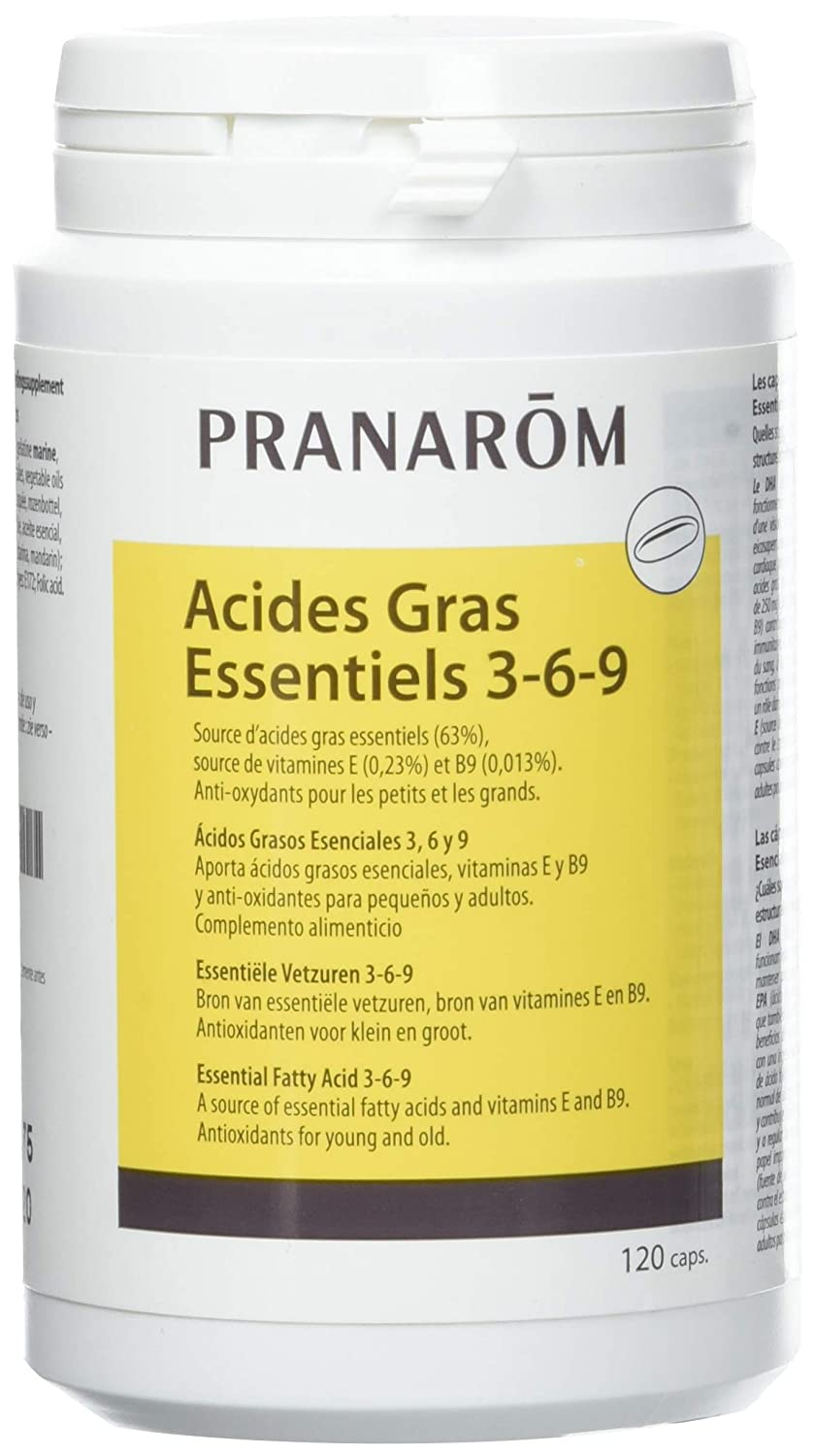Amazon.com: Pranarôm Nature 3-6-9 Essential Fatty Acids 120 Capsules: Health & Personal Care