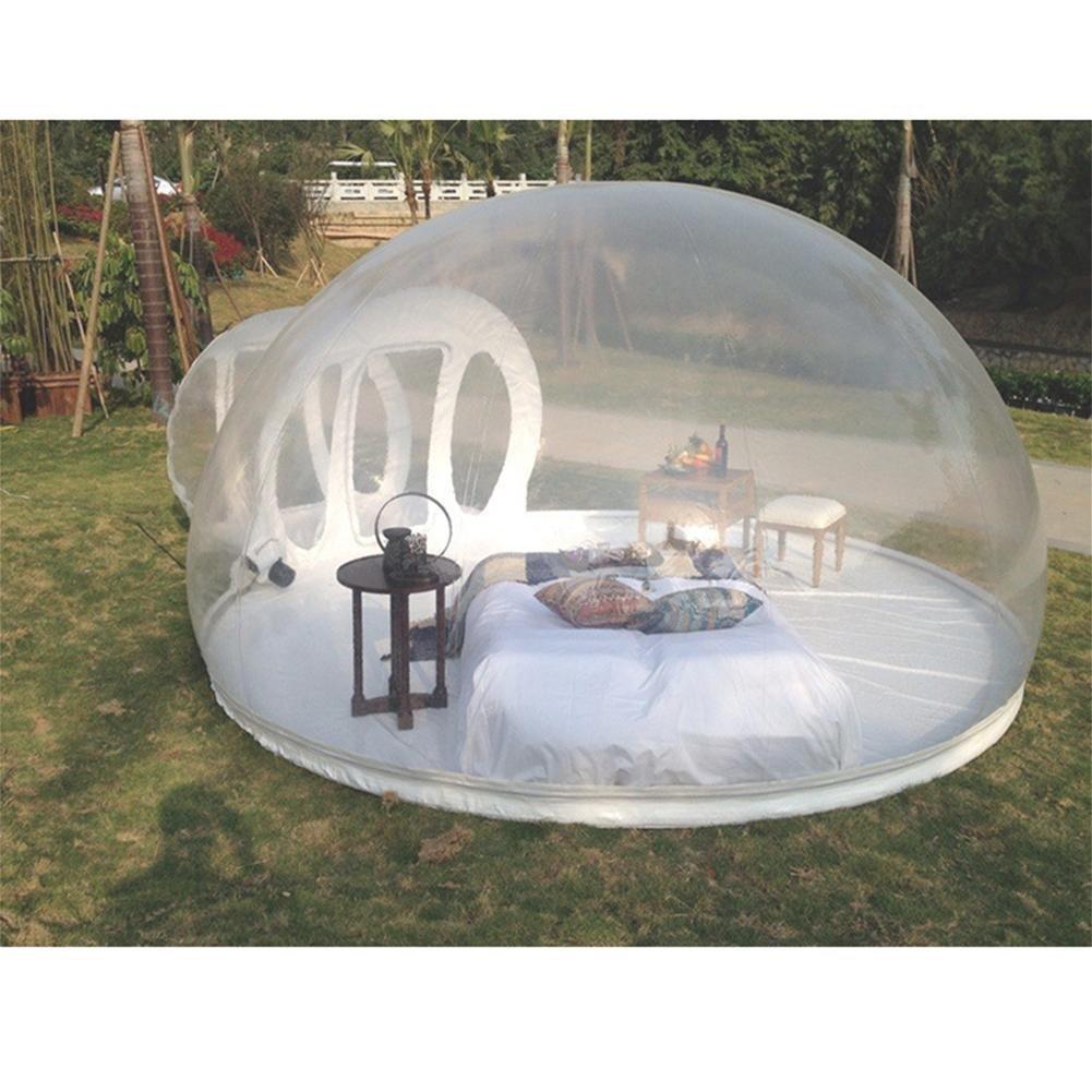 WJJH Zelt,Aufblasbares Transparentes Zelt im Freien automatisch im Wilden Multi-kampierenden beweglichen Doppelten Durchmesser des Spaßes des beweglichen Hauses 3m des Mannes mit Kanal