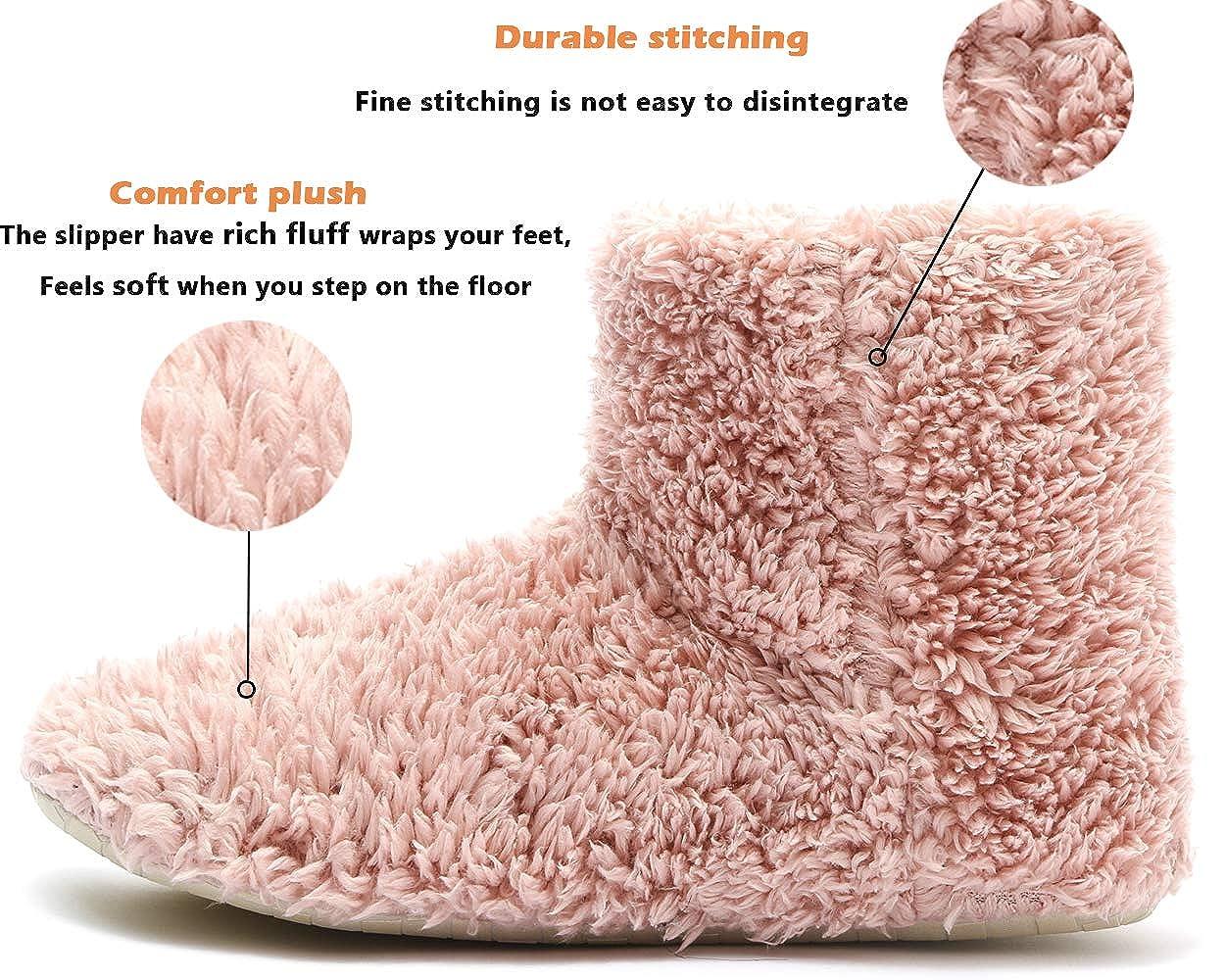 Mujer Botas Zapatillas Invierno de Estar por Casa Silencio Antideslizante Estar Cerradas Calienta Pantuflas Interior Exterior
